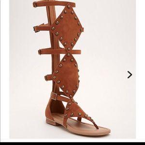 Torrid studded gladiator sandals brown 10